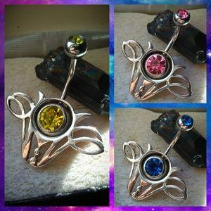 Jewelry - ✨💙.925 Sterling Silver Zodiac Belly Ring Shield